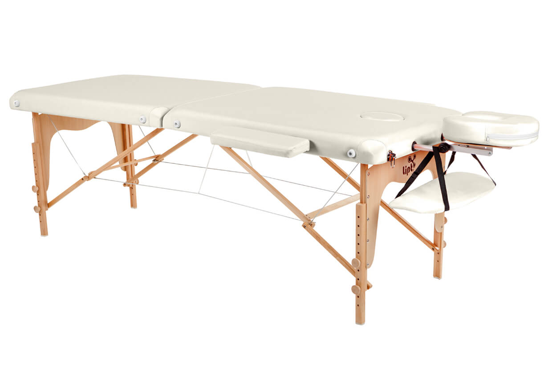 Masážny stôl Lipt® D-05 Krémová