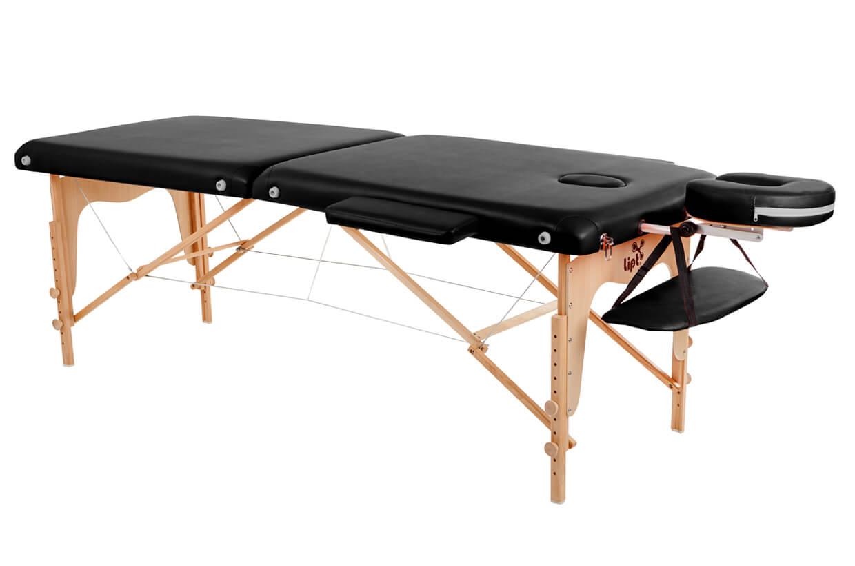 Masážny stôl Lipt® D-05 Čierna