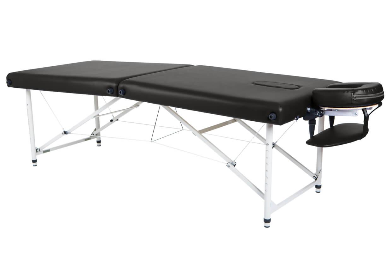 Masážny stôl Lipt® HL-01 (hliníkové) Čierna