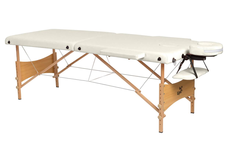 Masážny stôl Lipt® DS-01 Krémová