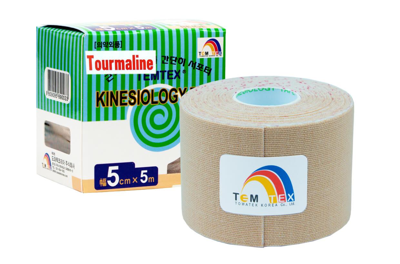 TEMTEX tape Tourmaline 5 cm x 5 m Béžová