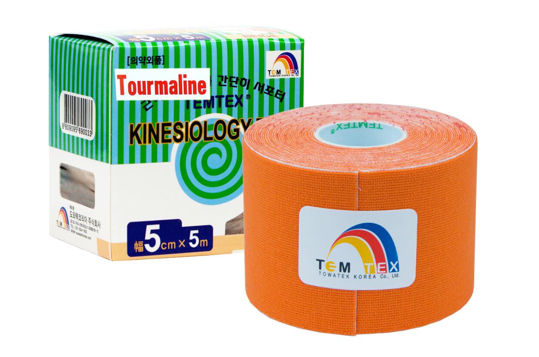 TEMTEX tape Tourmaline 5 cm x 5 m Oranžová