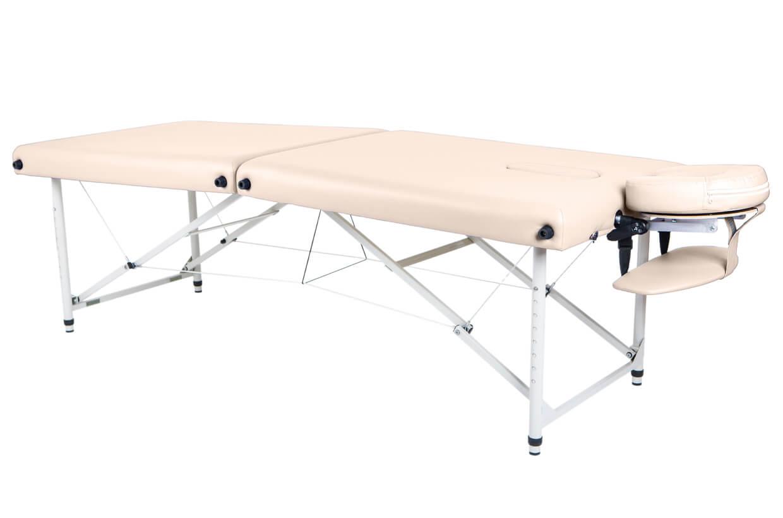 Masážny stôl Lipt® HL-01 (hliníkové) Krémová