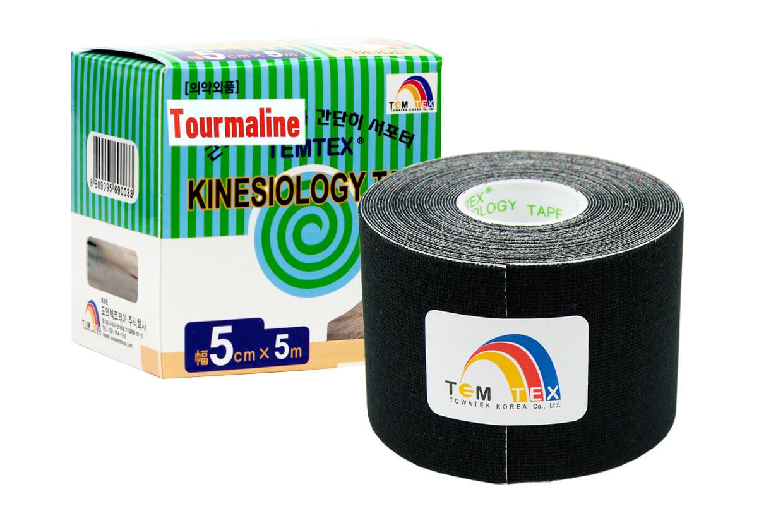 TEMTEX tape Tourmaline 5 cm x 5 m Čierna