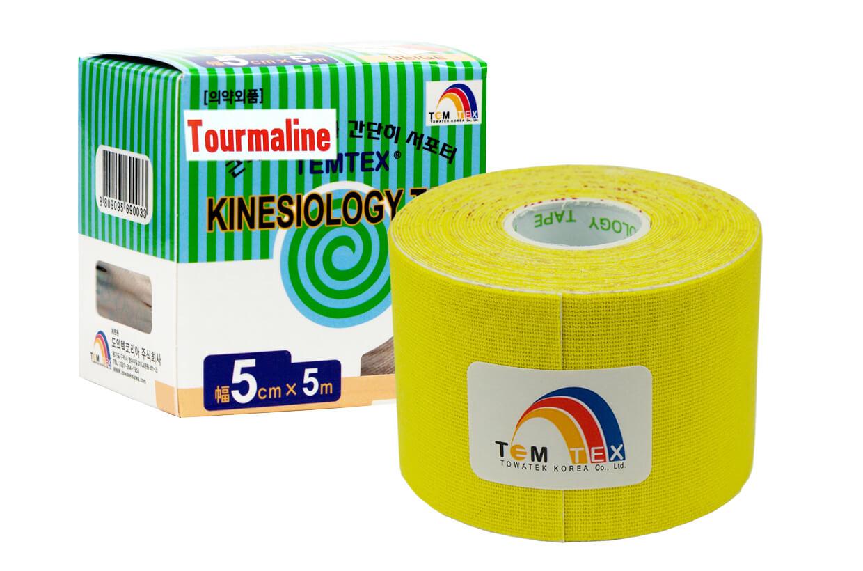 TEMTEX tape Tourmaline 5 cm x 5 m Žltá
