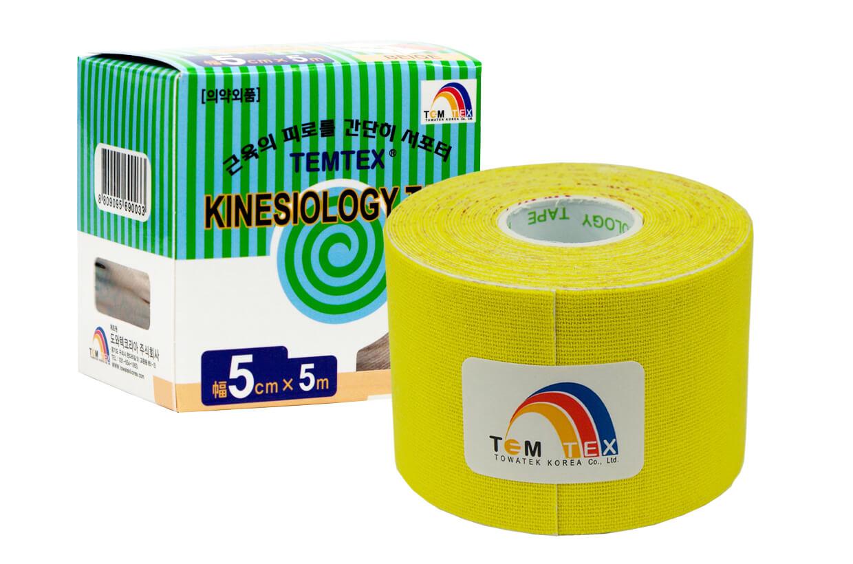 TEMTEX tape Classic 5 cm x 5 m Žltá