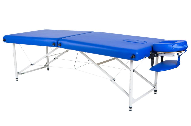 Masážny stôl Lipt® HL-01 (hliníkové) Modrá