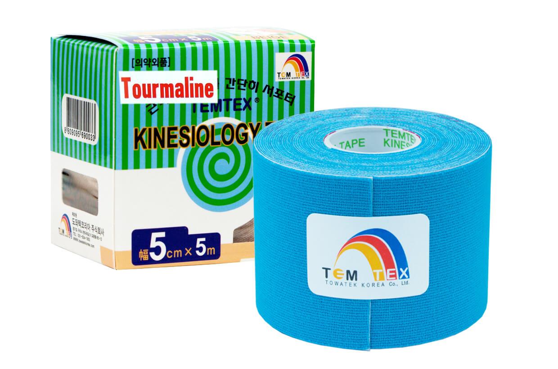 TEMTEX tape Tourmaline 5 cm x 5 m Modrá