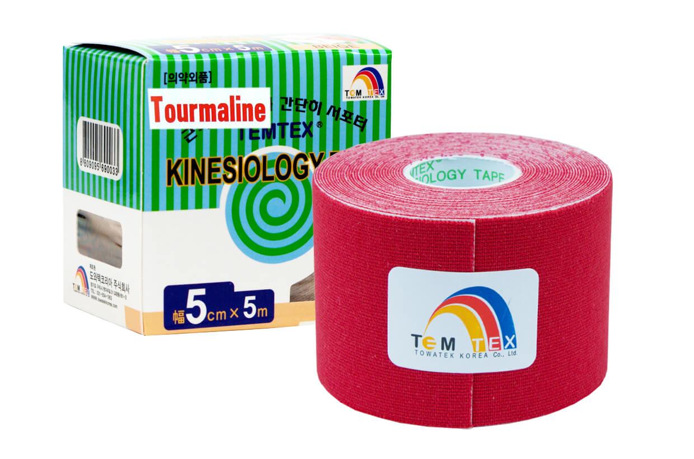 TEMTEX tape Tourmaline 5 cm x 5 m Červená