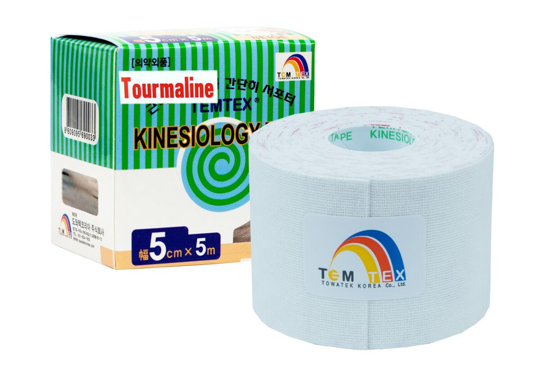 TEMTEX tape Tourmaline 5 cm x 5 m Biela
