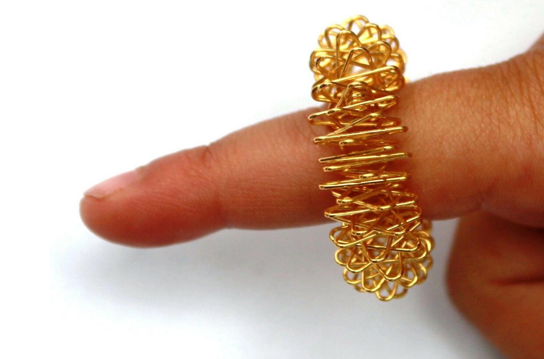 Akupresúrny masážny prsteň