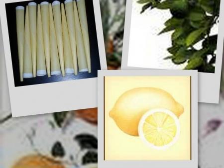 Telové sviečky citrónové 10ks