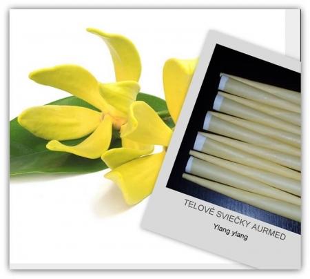 Telové sviečky ylang ylang 10ks