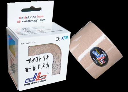 BB tape ICE - umelý hodváb 5cm x 5m béžová