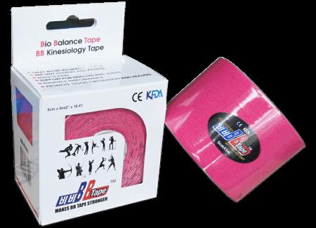 BB tape ICE - umelý hodváb 5cm x 5m ružová