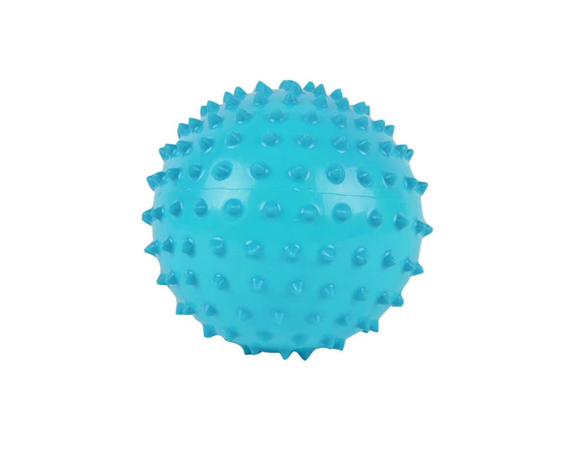 Masážna loptička ježko modrý 6cm