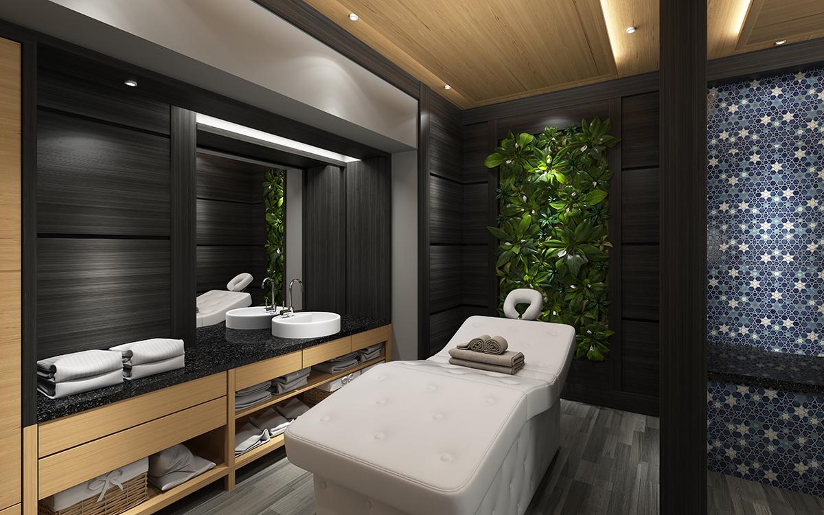 Vhodne umiestnený nábytok môže pomôcť pri zvukovej izolácii masérskej miestnosti